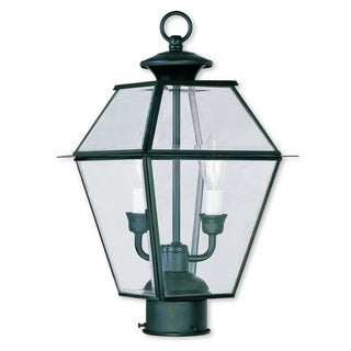 Livex Lighting Westover Black 2-light Outdoor Post Lantern