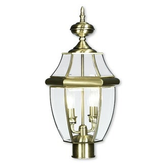 Livex Lighting Monterey Antique Brass 2-light Outdoor Post Lantern
