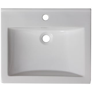 21-in. W x 18-in. D Ceramic Top In White Color For Single Hole Faucet