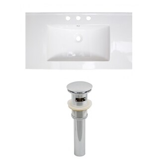 36-in. W x 20-in. D Ceramic Top Set In White Color And Drain