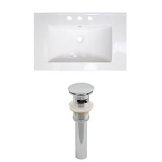 24-in. W x 18-in. D Ceramic Top Set In White Color And Drain