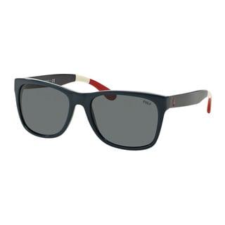 Polo Ralph Lauren Men's PH4106 556987 Blue Plastic Rectangle Sunglasses