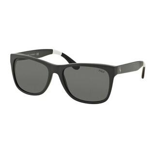 Polo Ralph Lauren Men's PH4106 557187 Grey Plastic Rectangle Sunglasses