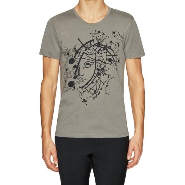 3ceead226a1 Shop Versace Collection Men s Half Medusa Grey T-shirt - Free ...