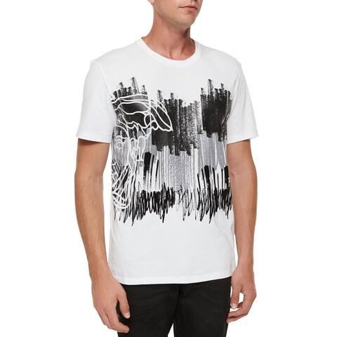 Versace Collection Men's White Half Medusa Scribble T-shirt