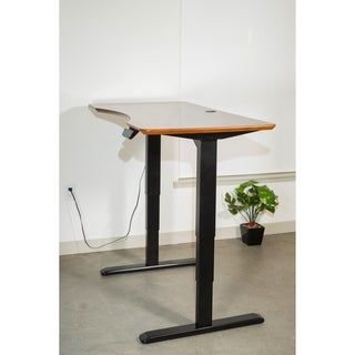 Ergomax Electric Black Dual-motor Height-adjustable Desk
