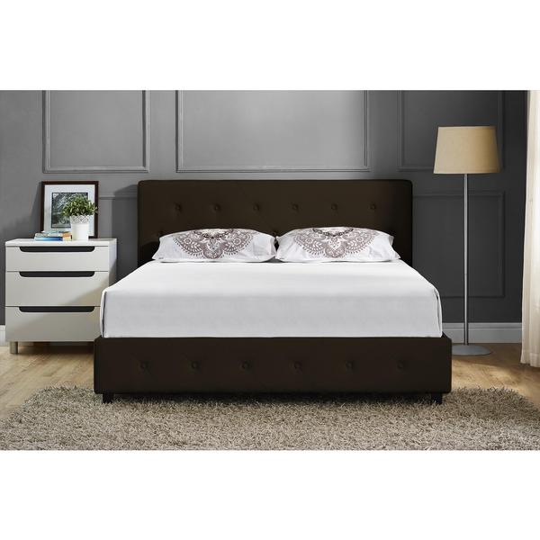 DHP Dakota Brown Faux Leather Upholstered Full Bed