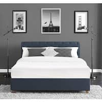 DHP Carmela Navy Linen Upholstered Full Bed