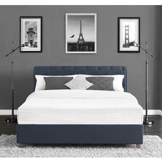 DHP Carmela Navy Linen Upholstered Full Bed. DHP Beds For Less   Overstock com