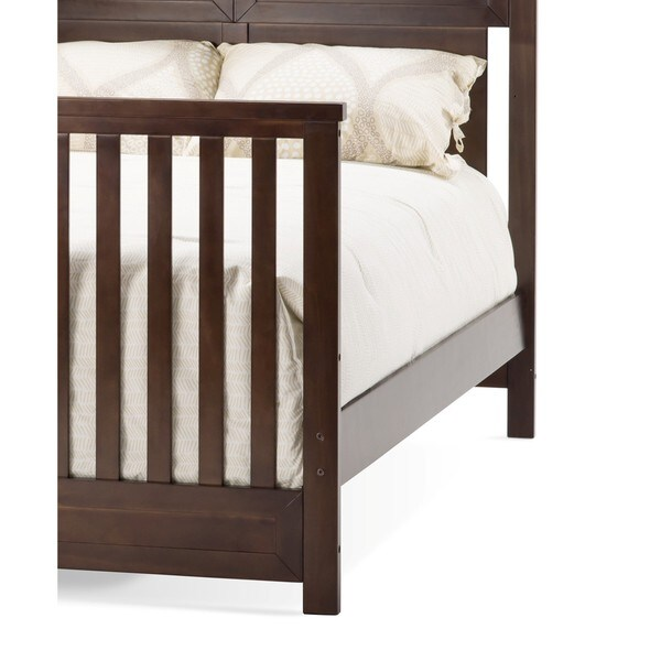 c3a27818084b5 Child Craft Rich Walnut Full Size Bed Rails