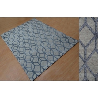 Aurelle Home Diamond Hand Tufted Rug (5' x 8')