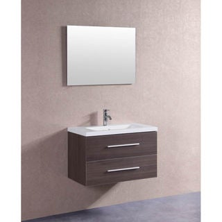 32 Inch Floating Single Sink Bathroom Vanity Set