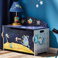 Fantasy Fields Outer Space Blue Finish Wood Toy Chest