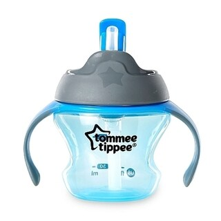 Tommee Tippee First Straw Blue Plastic 5-ounce Transition Cup