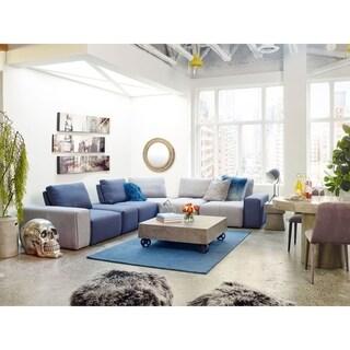 Aurelle Home Sky Hand Tufted Rug (5' x 8')