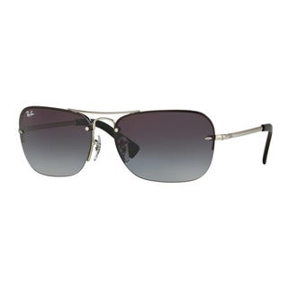 Ray-Ban Men's RB3541 003/8G Silver Metal Rectangle Sunglasses
