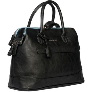 London Fog Preston Faux-leather 16-inch Triple-satchel Handbag