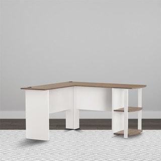 Nice Avenue Greene Abbott L Shaped Desk With Bookshelves