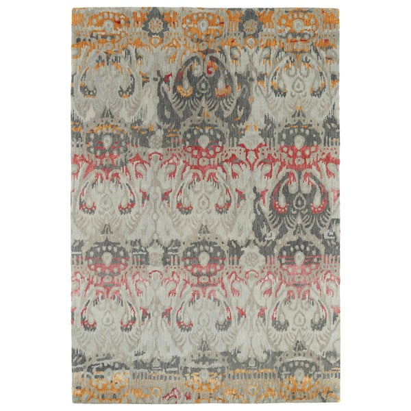 "Hand-Tufted Wool & Viscose Anastasia Multi Ikat Rug - 9'6"" x 13'"