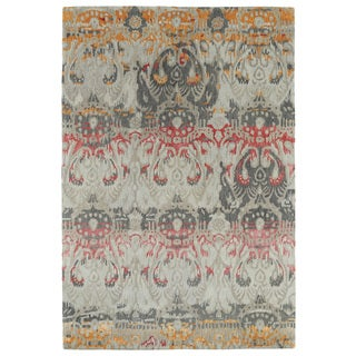 Hand-Tufted Wool & Viscose Anastasia Multi Ikat Rug (9'6 x 13')