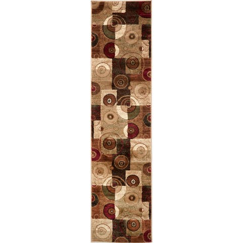 Home Dynamix Tribeca Collection Contemporary Multicolor Area Rug - Multi - 1'9 x 7'2