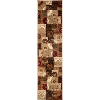 Home Dynamix Tribeca Collection Multicolor Polypropylene Machine-made Runner Rug (1'9 x 7'2)