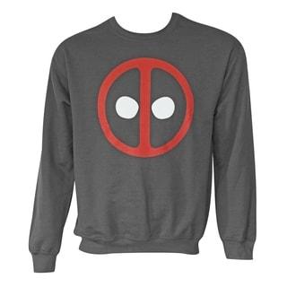 Men's Deadpool Logo Long-sleeve Crewneck Sweatshirt