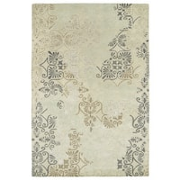 Hand-Tufted Wool & Viscose Anastasia Beige Rug (9'6 x 13')