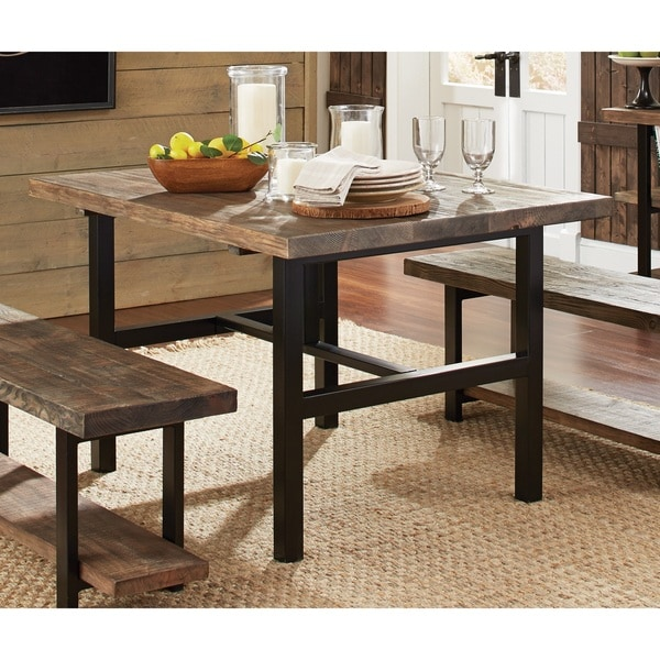 fantastic wood and metal kitchen table