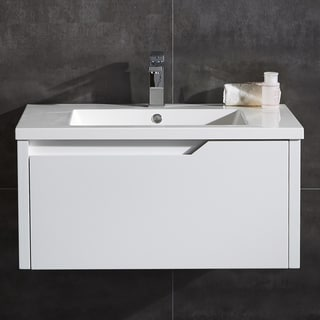 "Pavo 32"" Wall Hung Single Drawer LED Vanity"