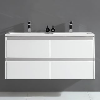 "Durante 48"" Wall Hung Double Sink Vanity"