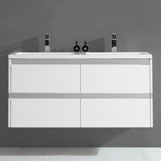 """Durante 48"""" Wall Hung Double Sink Vanity