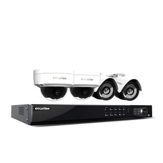 LaView 1080p IP NVR 8 Channel Video Security Surveillance System, 1TB HDD, 2 PoE 1080P IP Bullet and 2 PoE 1080p IP Dome Cameras