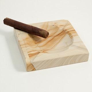 Bey Berk Tan Marble 4-cigar Ashtray