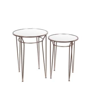 Privilege Contemporary Gold Accent Tables (Set of 2)|https://ak1.ostkcdn.com/images/products/11996426/P18875685.jpg?impolicy=medium