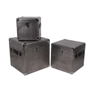 Privilege Silver Aluminum Three-piece Trunk Set