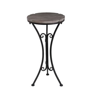 Privilege Transitional Black Round Accent Stand