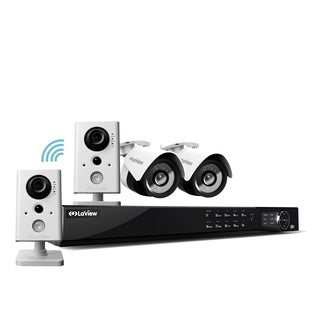 LaView 1080p IP NVR 8 Channel 2TB Hard Drive Video Security Surveillance System with 2 PoE 1080P IP Cameras, 2 WiFi Cameras