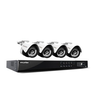 LaView 1080p IP NVR 8 Channel 1TB Hard Drive Video Security Surveillance System with 4 PoE 1080P IP Bullet Cameras