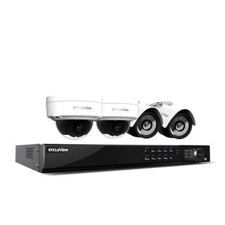 LaView 1080p IP NVR 8 Channel Video Security Surveillance System with 2 PoE 1080P IP Bullet and 2 PoE 1080p IP Dome Cameras