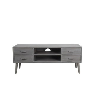 Privilege Retro Washed Grey Mid-century TV Unit