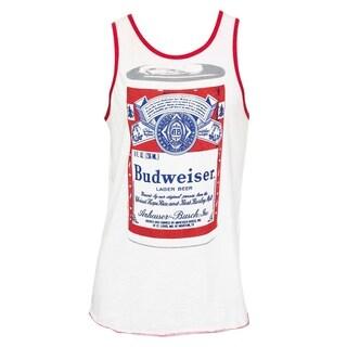 Men's Budweiser Big Can White Cotton-blend Tank Top