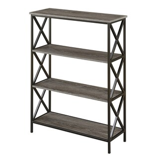 The Gray Barn Pitchfork Metal and Wood 4-tier Bookcase (3 options available)