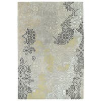 "Hand-Tufted Wool & Viscose Anastasia Grey Rug - 9'6"" x 13'"
