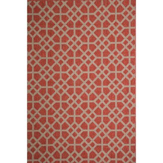 Christopher Knight Home Roxanne Larita Indoor/Outdoor Red Rug (7' x 10')