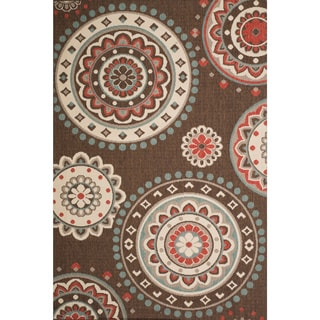 Christopher Knight Home Roxanne Lee Indoor/Outdoor Brown Rug (7' x 10')