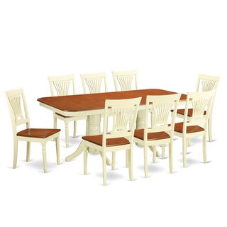 NAPL9-WHI 8-chair 9-piece Kitchen Dinette Set