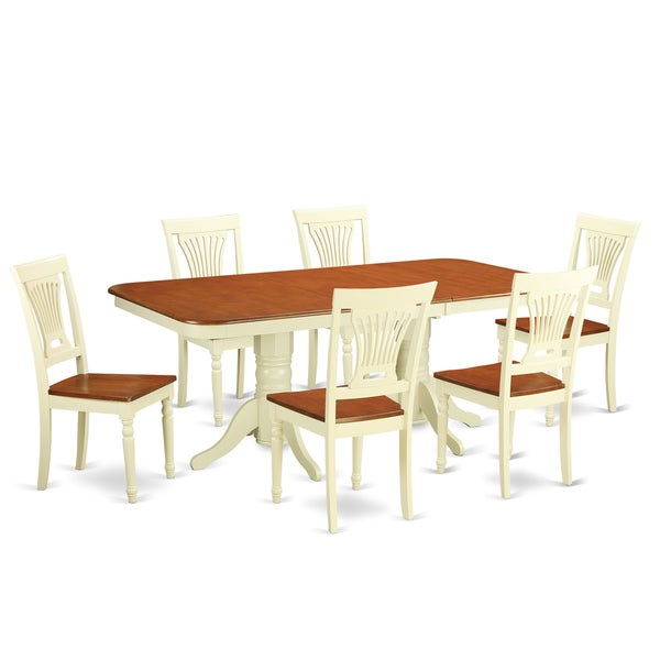 Cheap Dinette Sets Free Shipping: Shop NAPL7-WHI Cream/Cherry Finish Wood Dinette Table And