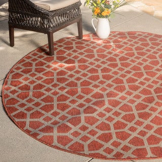 Christopher Knight Home Roxanne Larita Indoor/Outdoor Red Rug (7' Round)