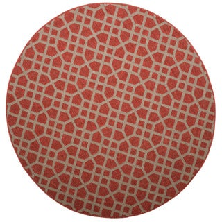 Christopher Knight Home Roxanne Larita Indoor/Outdoor Red Rug (8' Round)